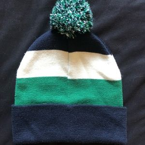 Navy and green H&M beanie!!